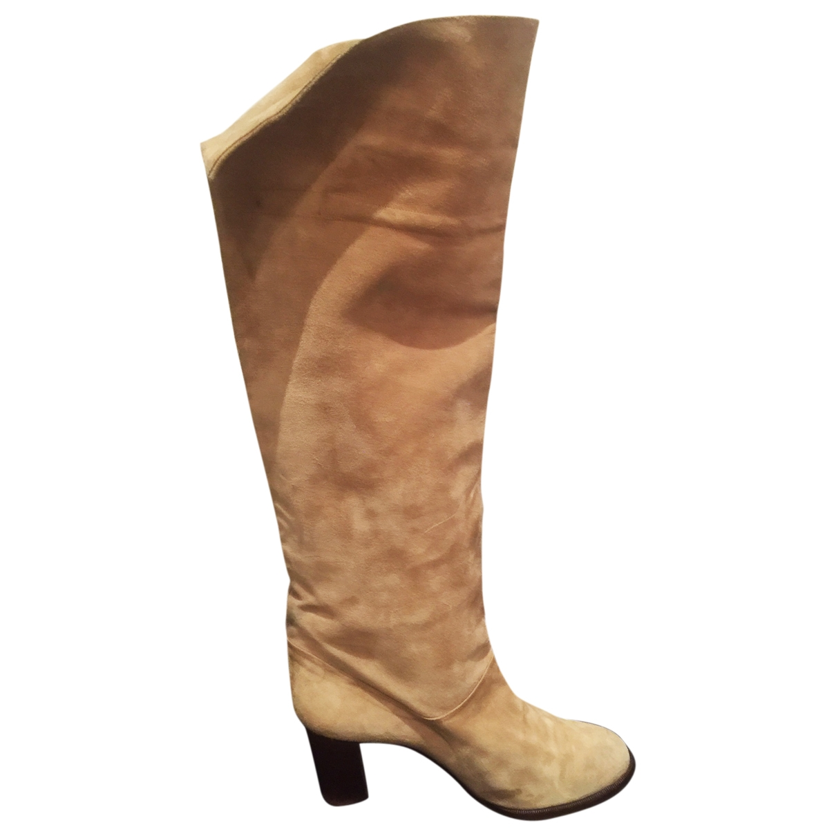 Lanvin \N Beige Suede Boots for Women 37 EU
