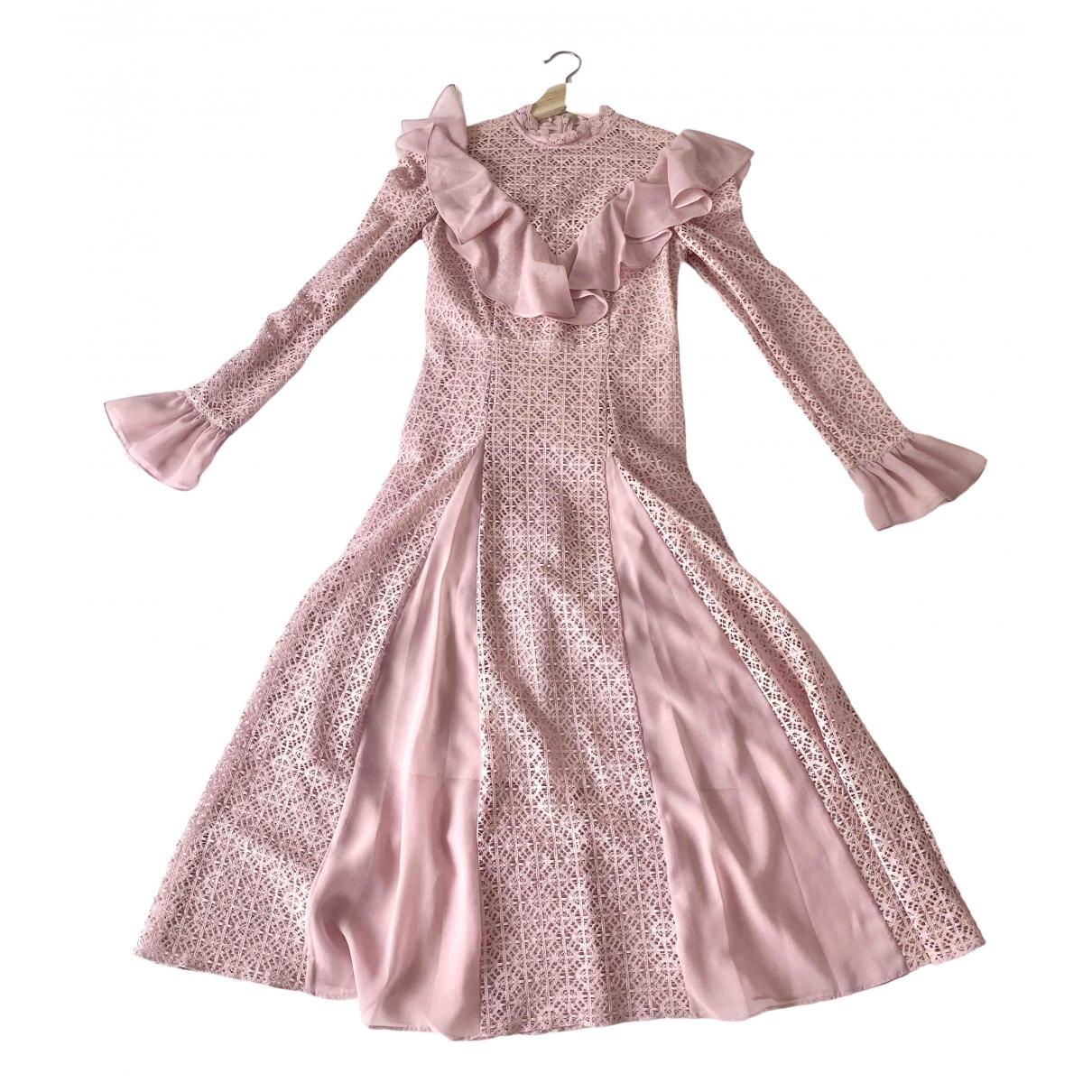 Temperley London - Robe   pour femme en dentelle - rose