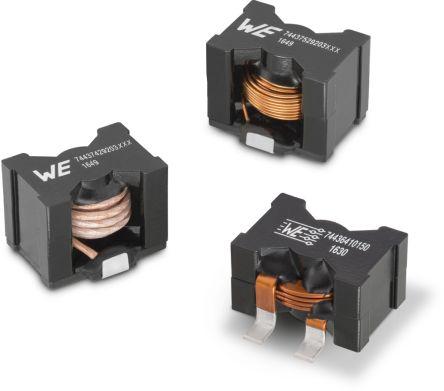 Wurth Elektronik Wurth 4.7 μH ±15% Manganese Zinc Ferrite Power Inductor, Max SRF:21.56MHz, 36A Idc, 1.31mΩ Rdc, WE-HCF (30)