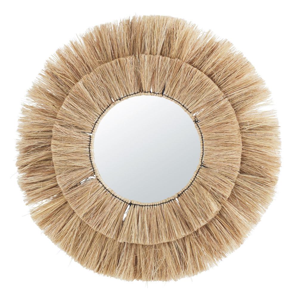 Runder Spiegel aus Pflanzenfaser D110