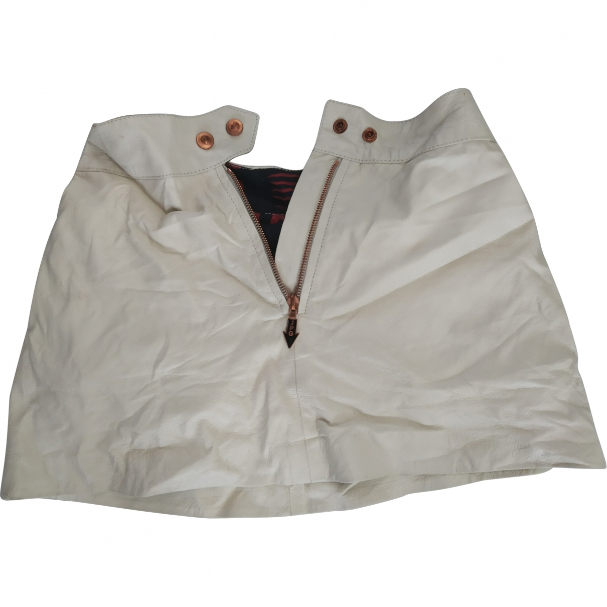 Jean Paul Gaultier \N White Leather skirt for Women XS International