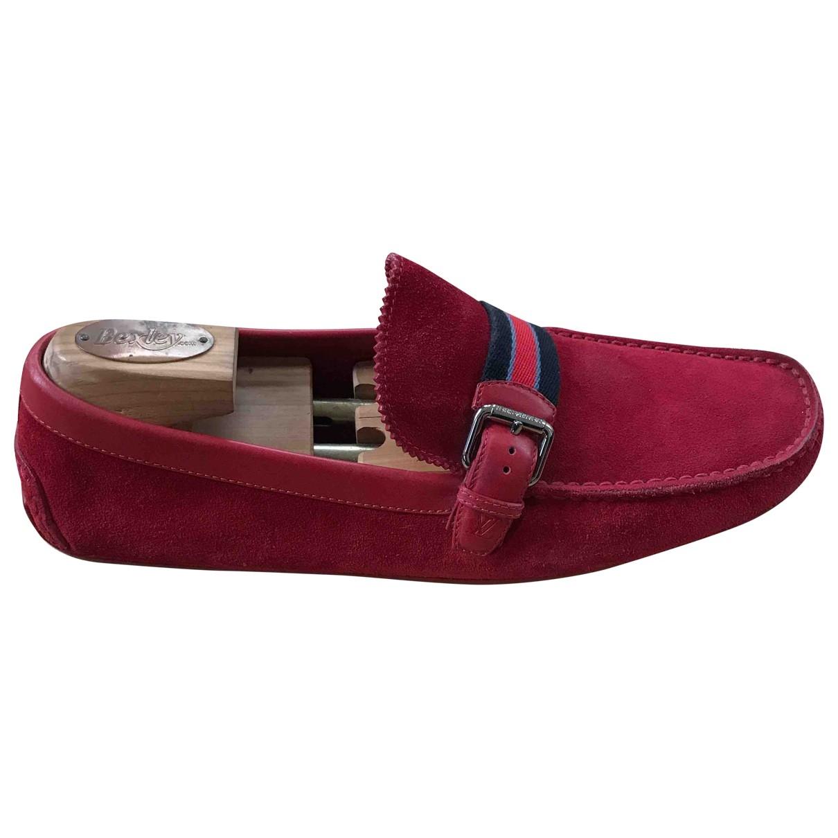 Louis Vuitton - Mocassins   pour homme en suede - rouge
