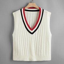 Pulloverweste mit Streifen