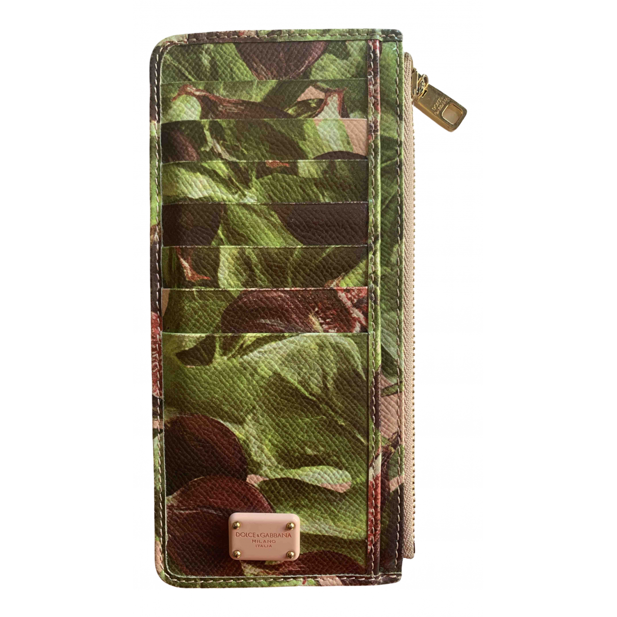 Dolce & Gabbana \N Green Leather Purses, wallet & cases for Women \N