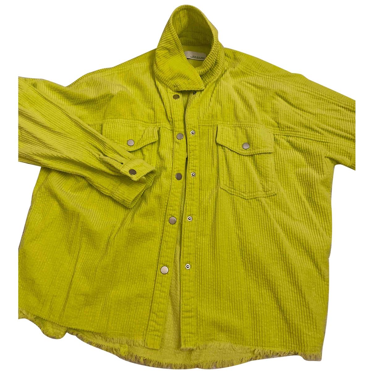 Zara - Top   pour femme en velours - vert
