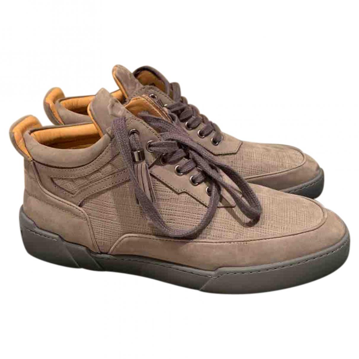 Non Signe / Unsigned \N Sneakers in  Grau Veloursleder