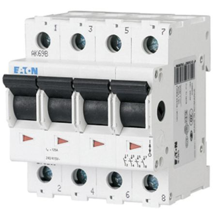 Eaton 4 Pole DIN Rail Switch Disconnector - 100 A Maximum Current, IP40