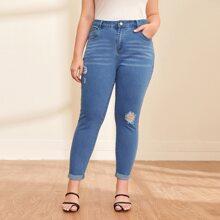 Jeans mit Riss