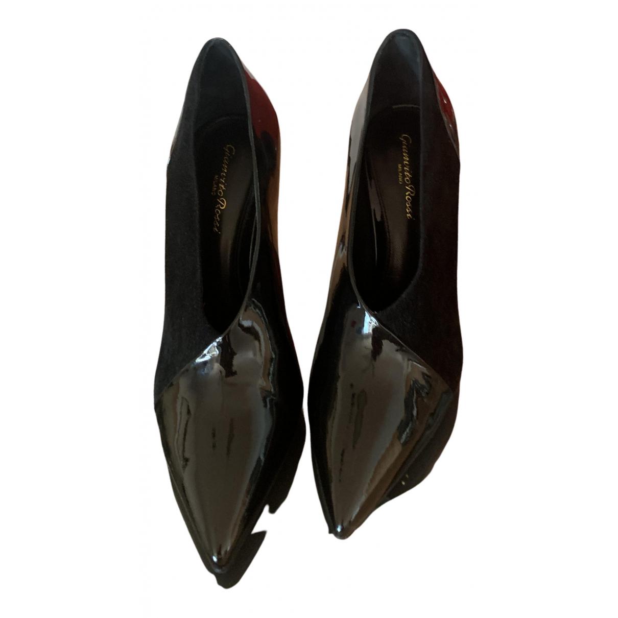 Gianvito Rossi - Escarpins   pour femme en cuir verni - noir