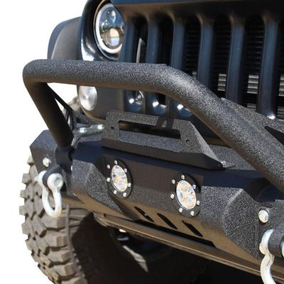 DV8 Offroad Mid-Length Stubby Front Bumper (Black) - FBSHTB-11
