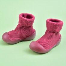 Toddler Girls Ribbed High Top Sock Sneakers