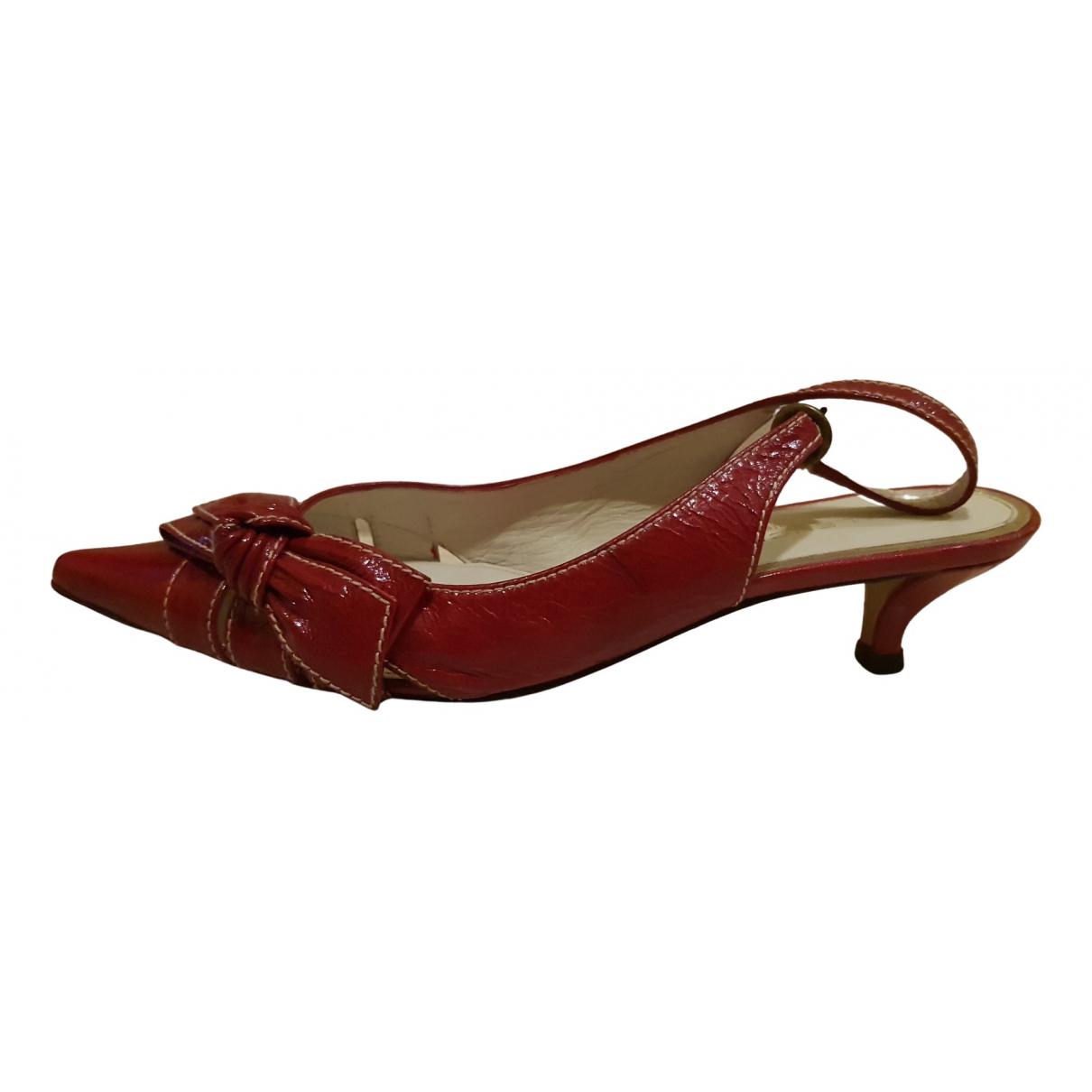 Balenciaga Knife Red Leather Sandals for Women 37 EU
