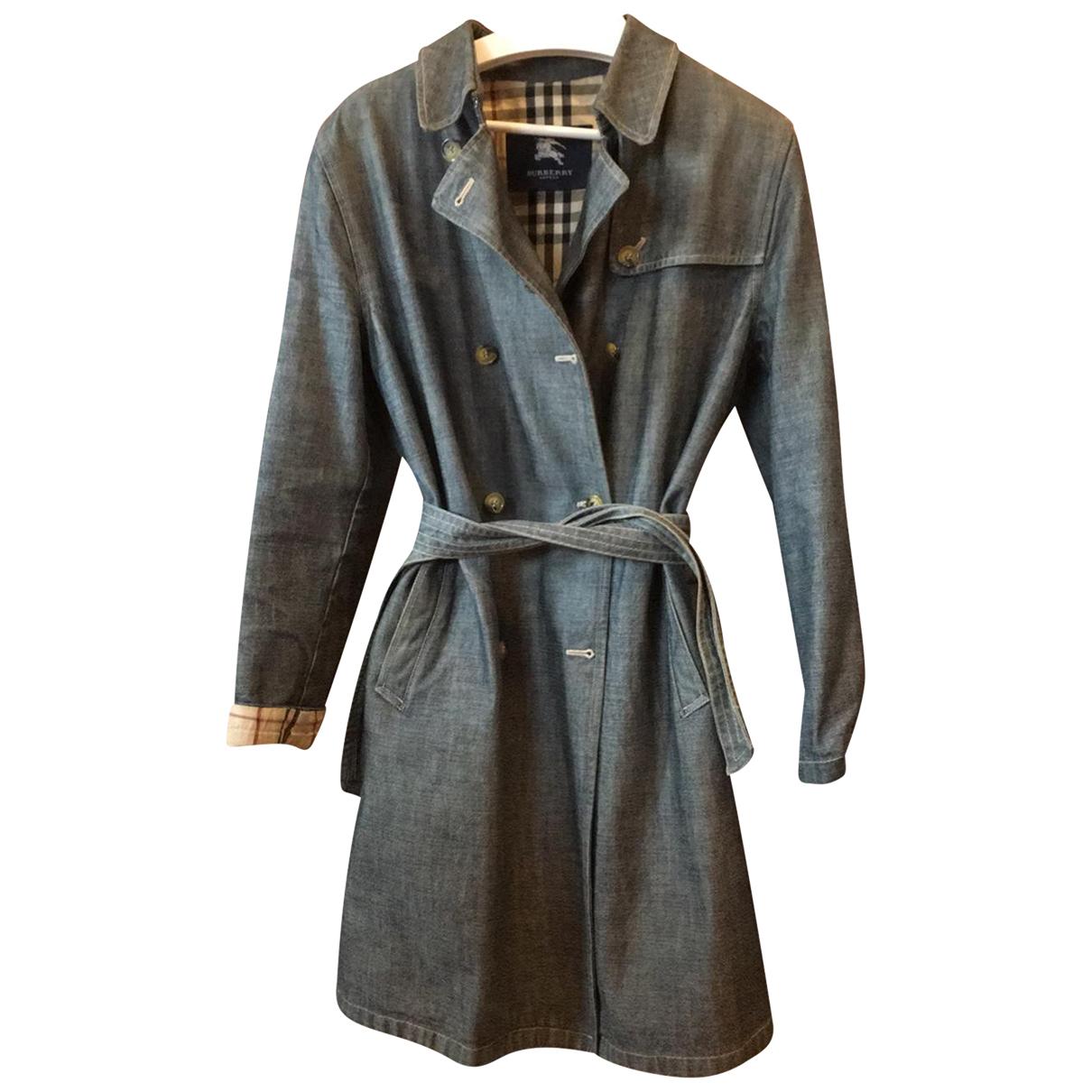 Burberry N Blue Cotton coat for Women 44 IT