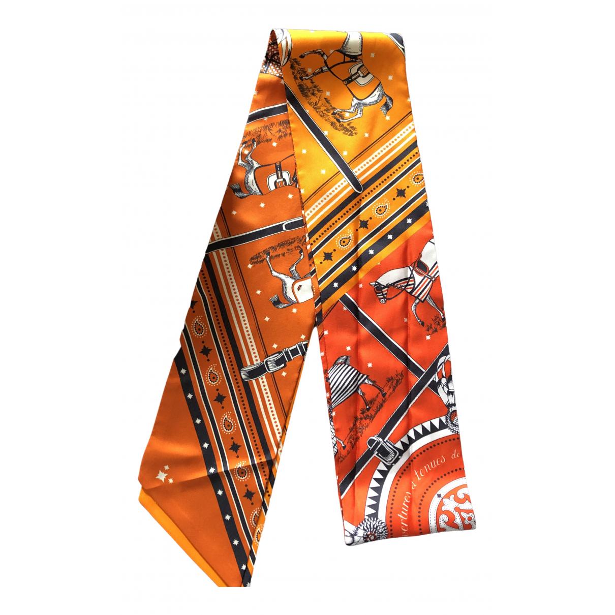 Hermes - Foulard Maxi twilly pour femme en soie - orange