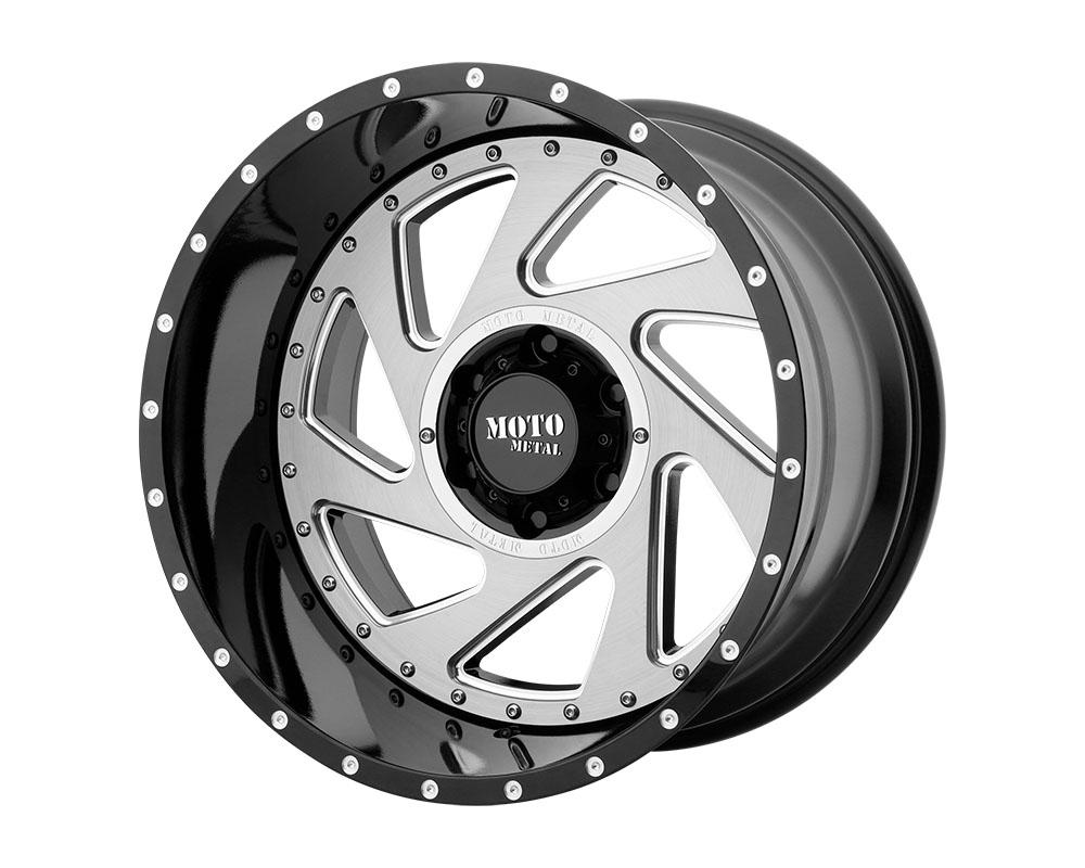 Moto Metal MO98921268344N MO989 Change Up Wheel 20x12 6x6x139.7 -44mm Gloss Black Milled Brushed Inserts