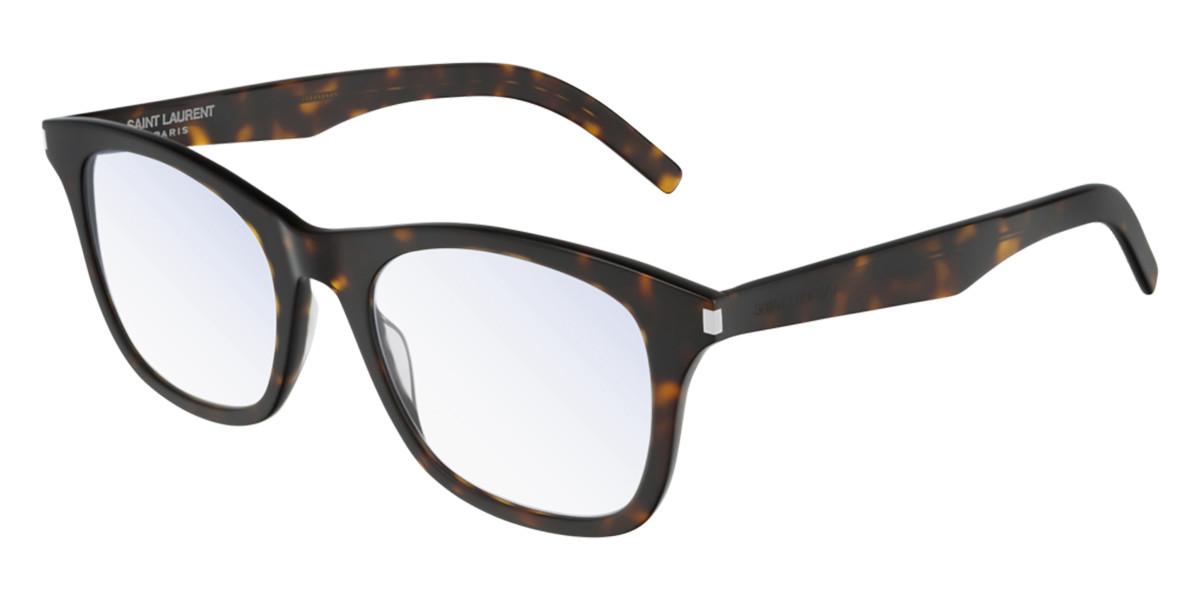 Saint Laurent SL 286 SLIM 005 Men's Glasses Tortoise Size 52 - Free Lenses - HSA/FSA Insurance - Blue Light Block Available