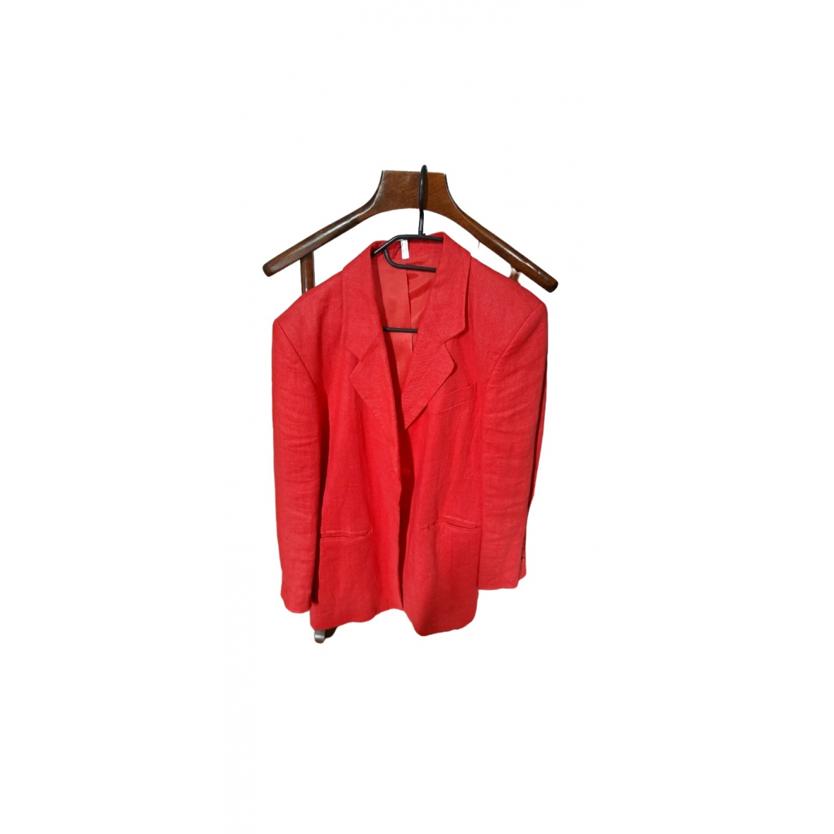 Non Signé / Unsigned \N Red Linen jacket for Women 40 FR
