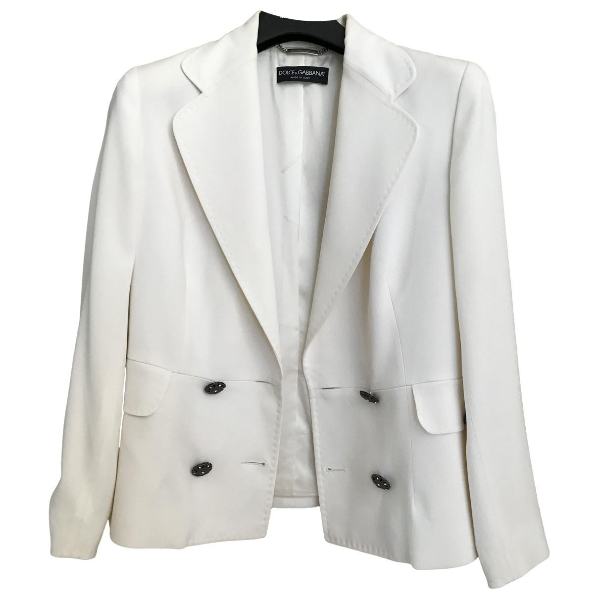 Dolce & Gabbana - Veste   pour femme - blanc