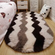 Chevron Pattern Fluffy Carpet