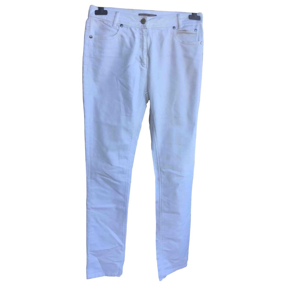 Zapa \N White Cotton - elasthane Jeans for Women 38 FR