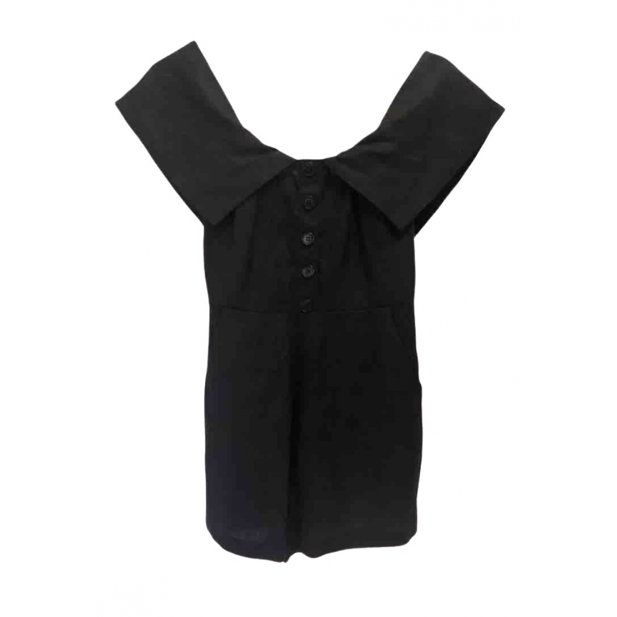 Reformation \N Black Linen jumpsuit for Women 34 FR