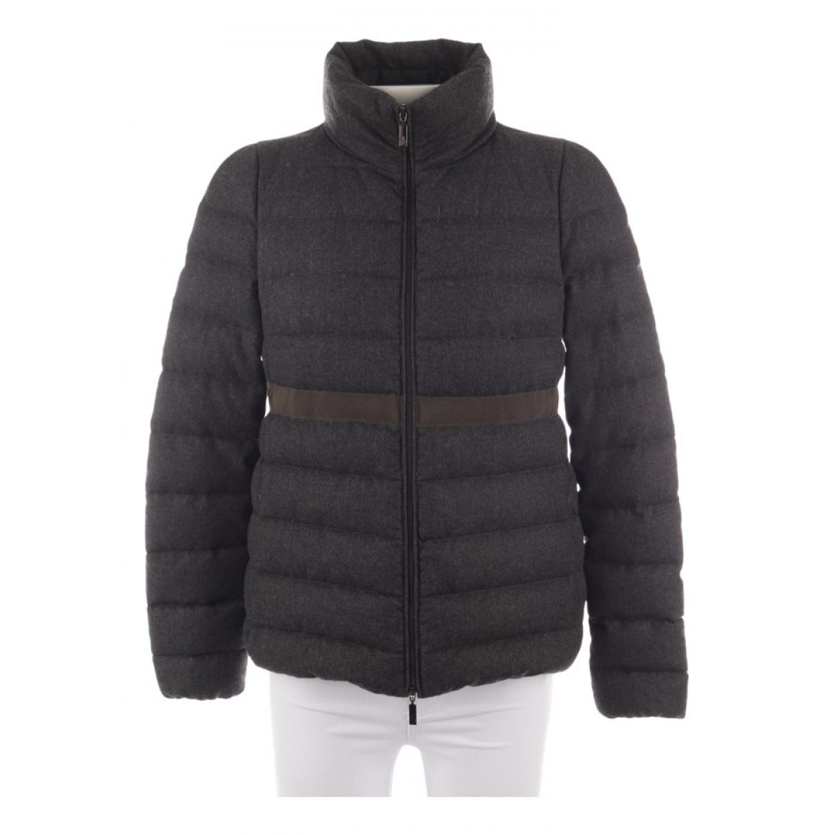 Moncler - Veste   pour femme en laine - gris