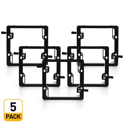 Support de montage 2 groupes faible voltage - PrimeCables® - 5pack