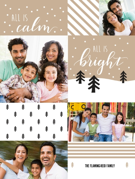 Holiday Plush Fleece Photo Blanket, 60x80, Gift -Calm & Bright