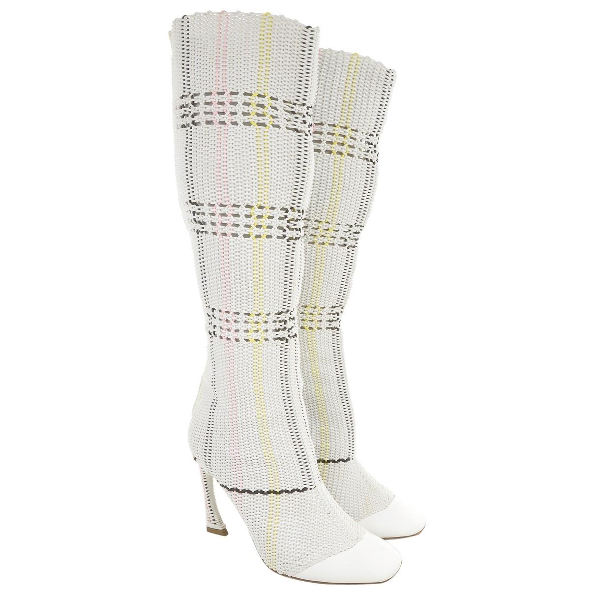 Dior - Bottes   pour femme en toile - blanc