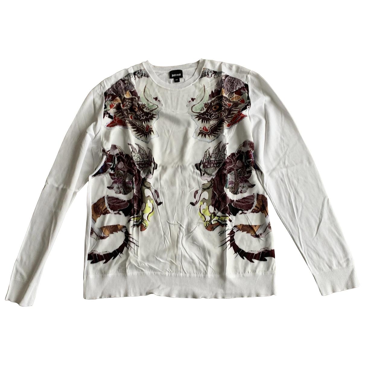 Just Cavalli \N White Cotton Knitwear & Sweatshirts for Men XXL International