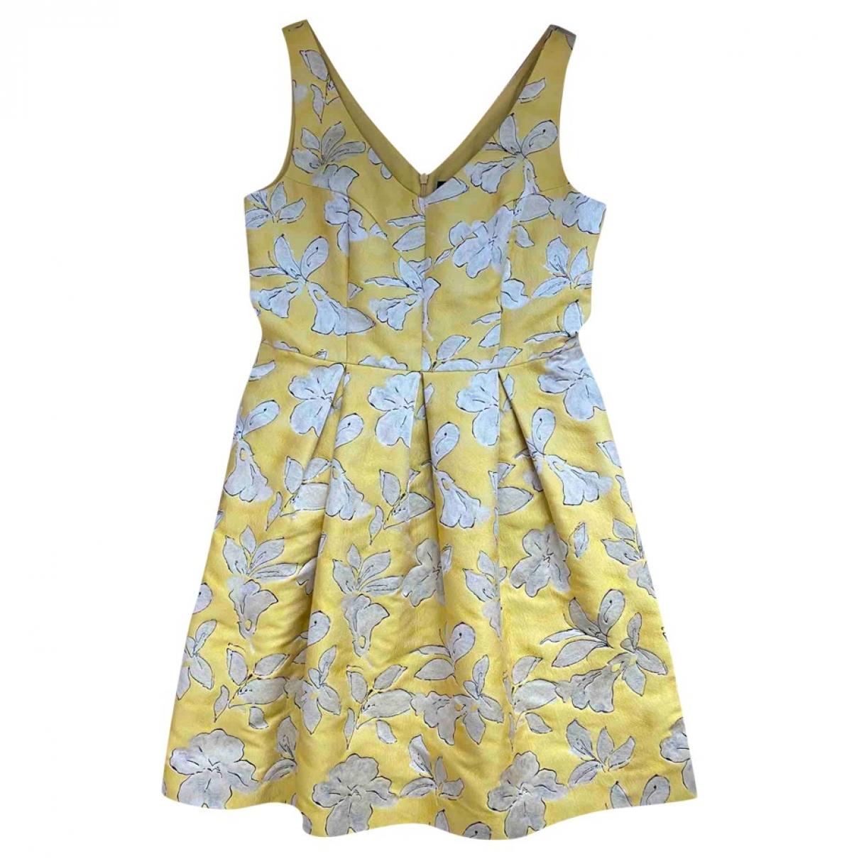 Hallhuber \N Kleid in  Gelb Veloursleder