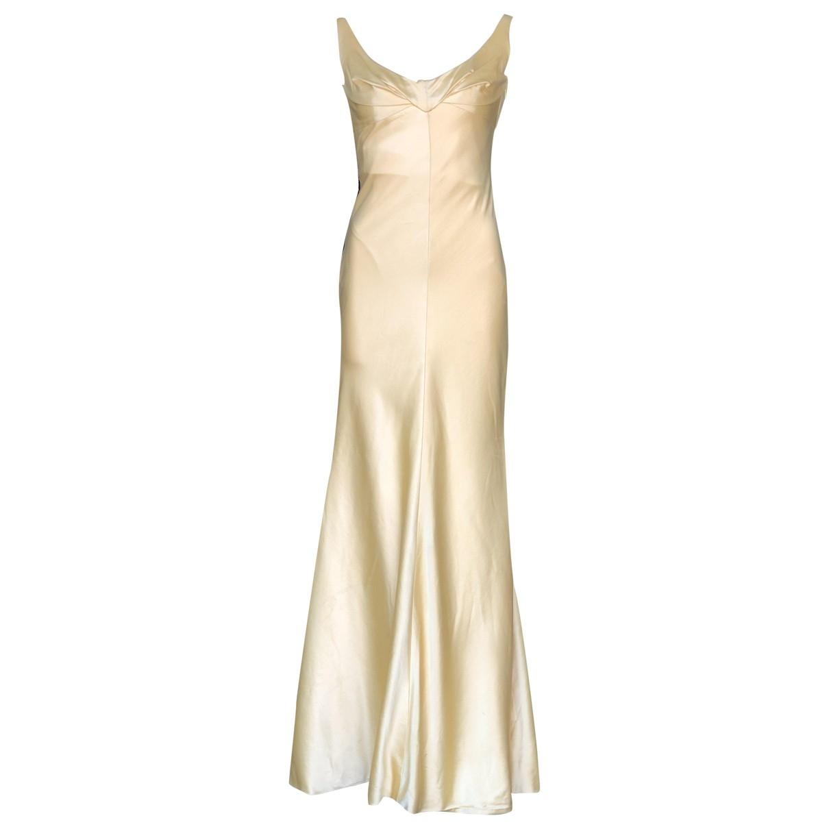 Gianni Versace \N Kleid in  Gelb Seide