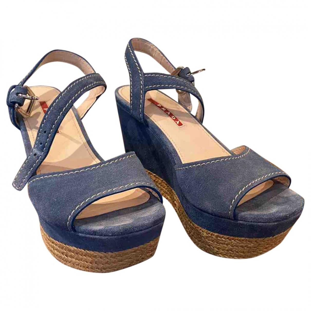 Prada \N Blue Suede Espadrilles for Women 37 EU