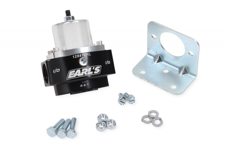 Earl's Performance 12847ERL EARLS FP REG, ADJ 4.5-9 PSI 10AN IN/OUT 8AN RTRN