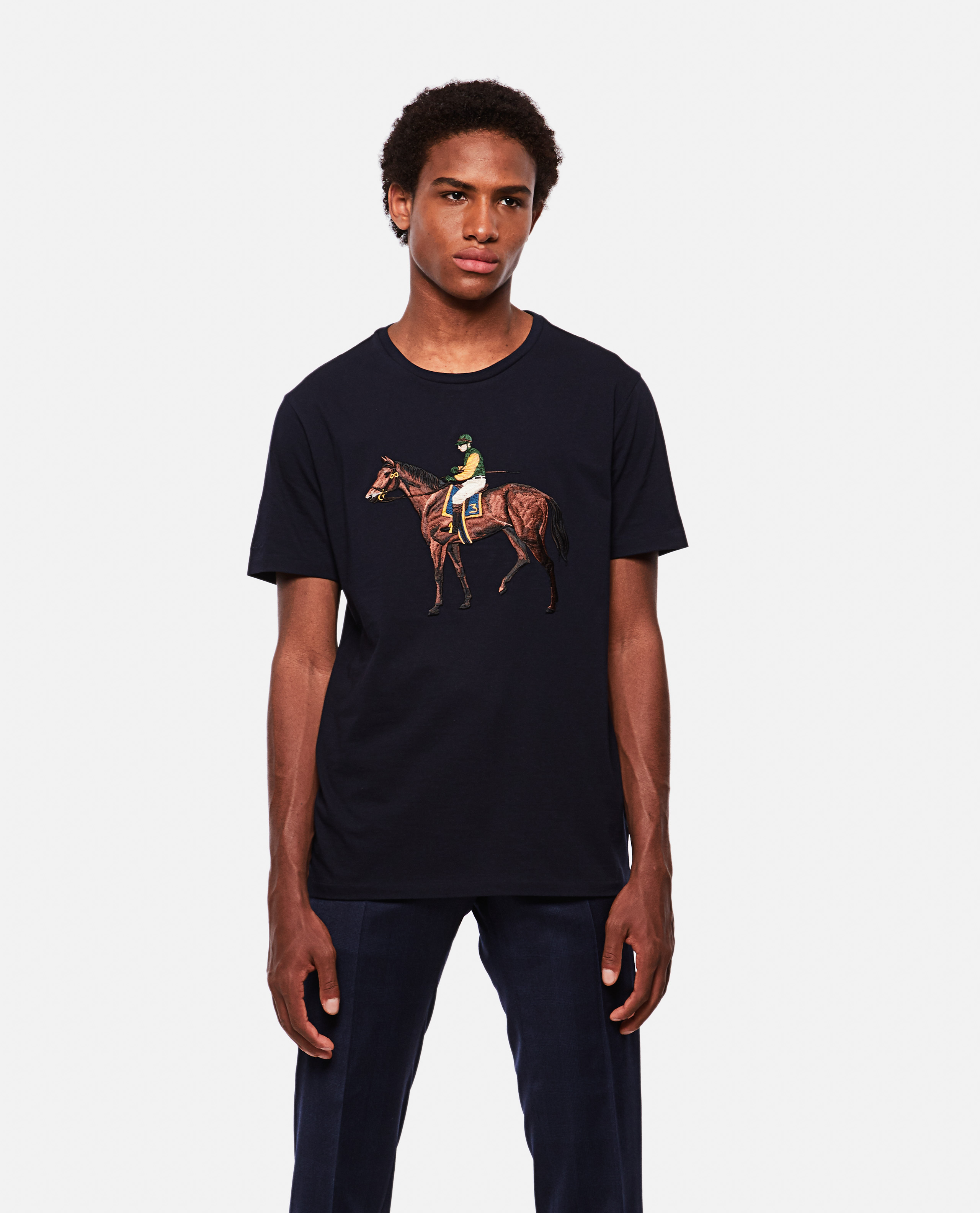 Horse embroidery T-shirt