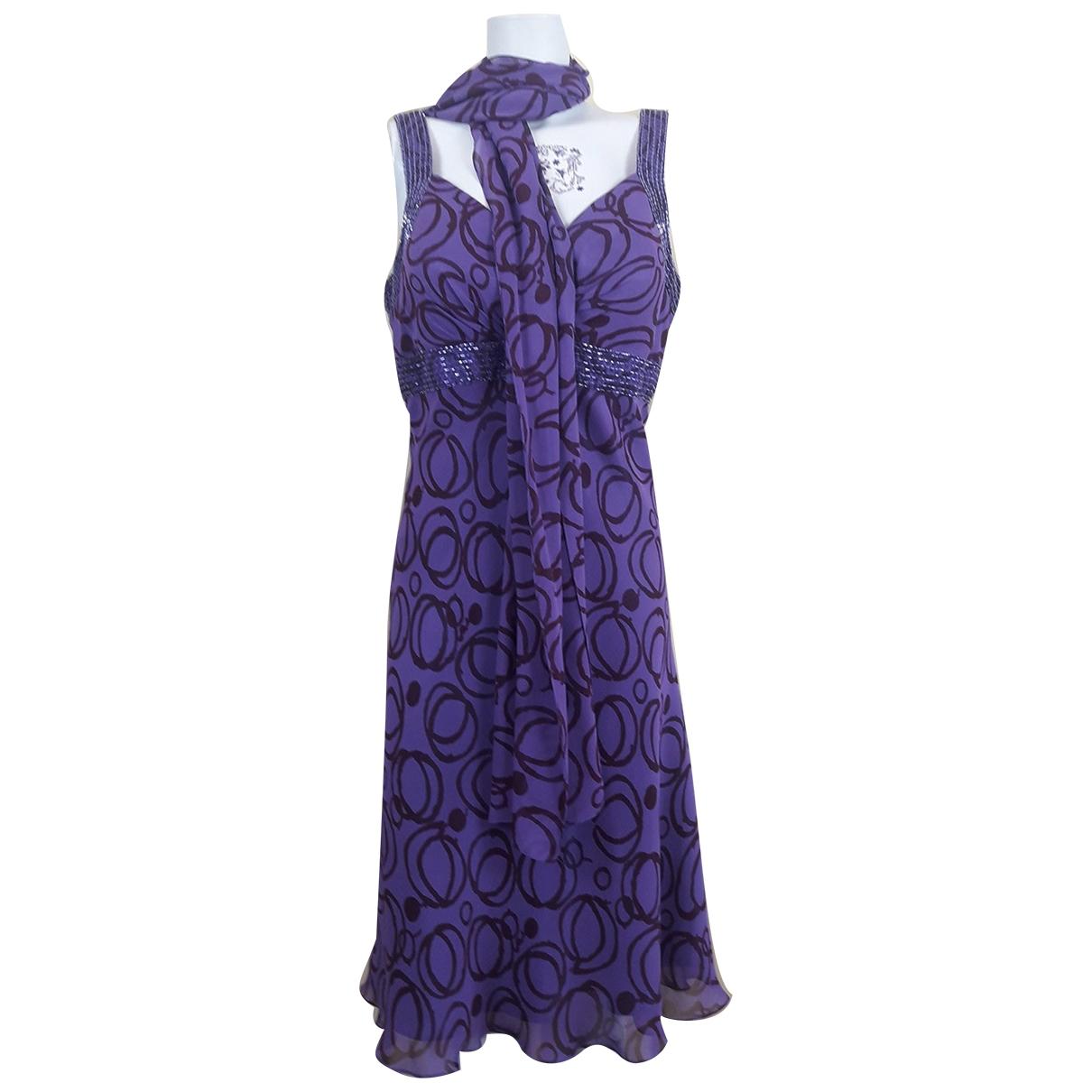 Non Signé / Unsigned \N Purple Silk dress for Women 50-52 IT