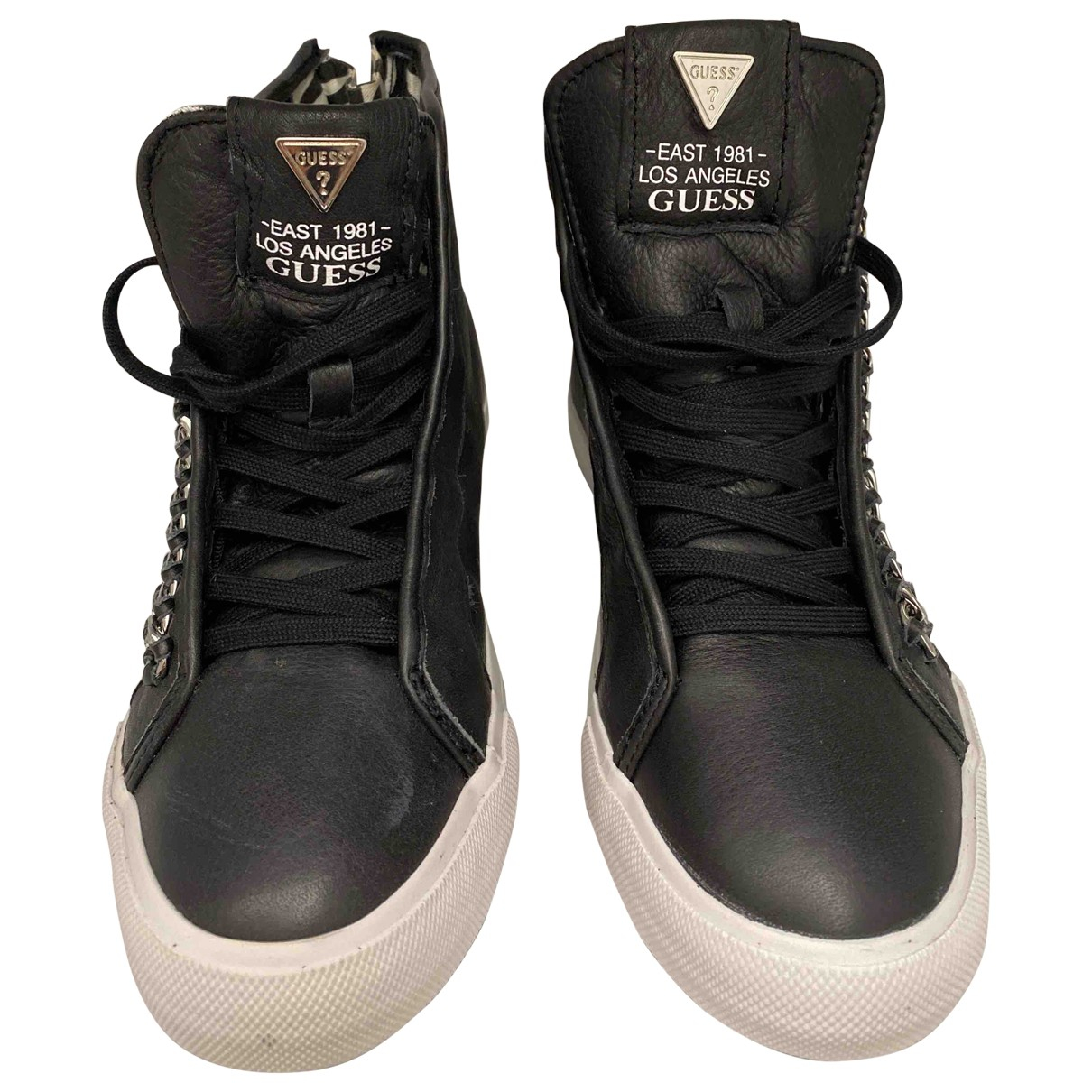 Guess \N Black Leather Ankle boots for Women 39 EU