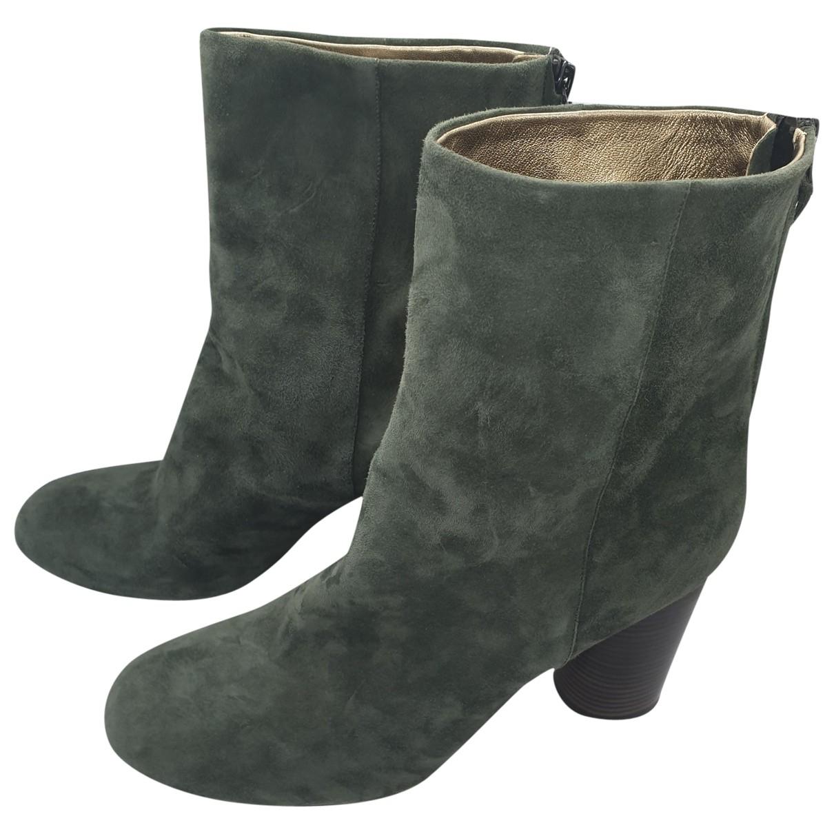 Isabel Marant Garett Green Suede Ankle boots for Women 39 EU