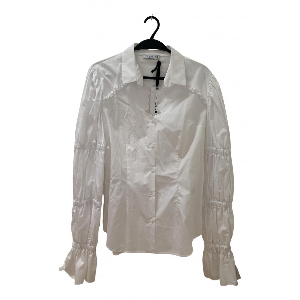 Vivetta N White Cotton  top for Women 46 IT