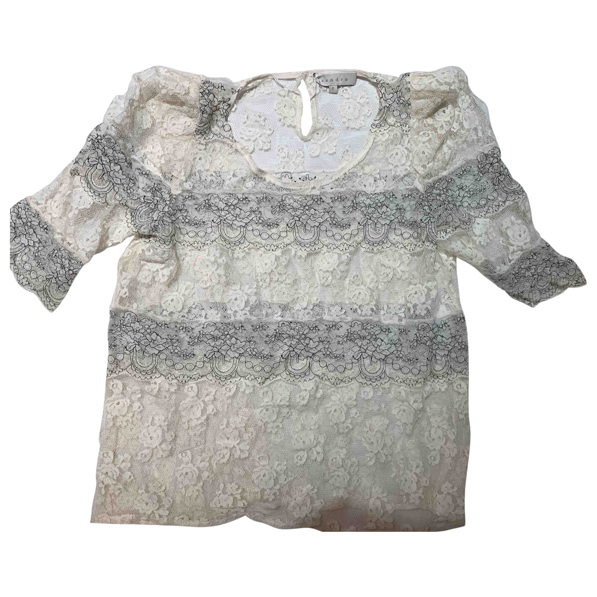 Sandro \N White Lace  top for Women 38 FR