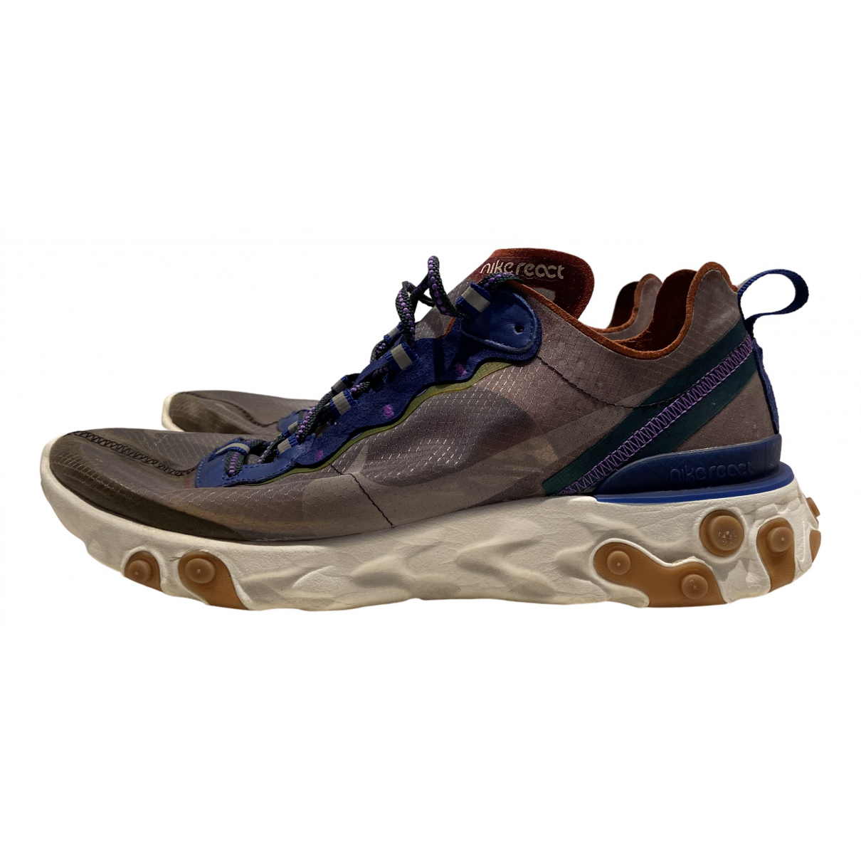 Nike - Baskets React Element 87  pour homme en suede - multicolore