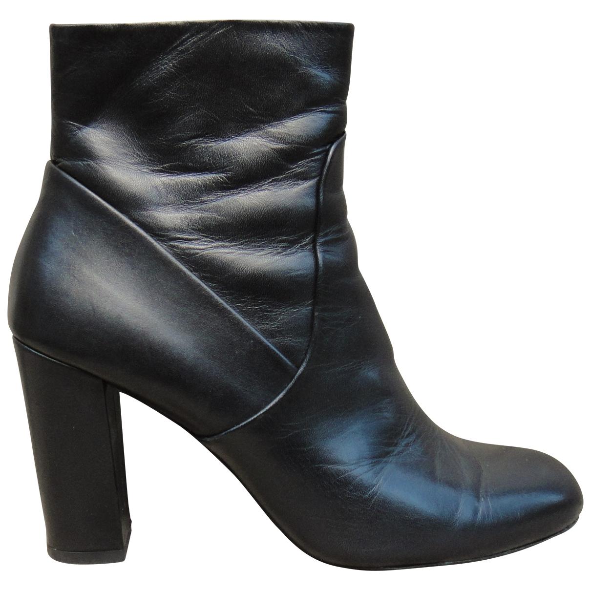 Iro - Boots   pour femme en cuir - noir