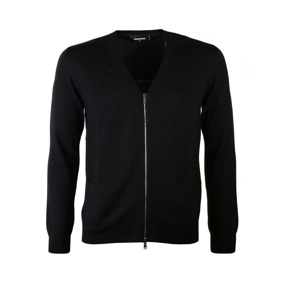 Dsquared2 Zipped Cardigan Black Colour: BLACK, Size: EXTRA LARGE