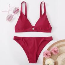 Bikini Badeanzug mit Ausschnitt hinten
