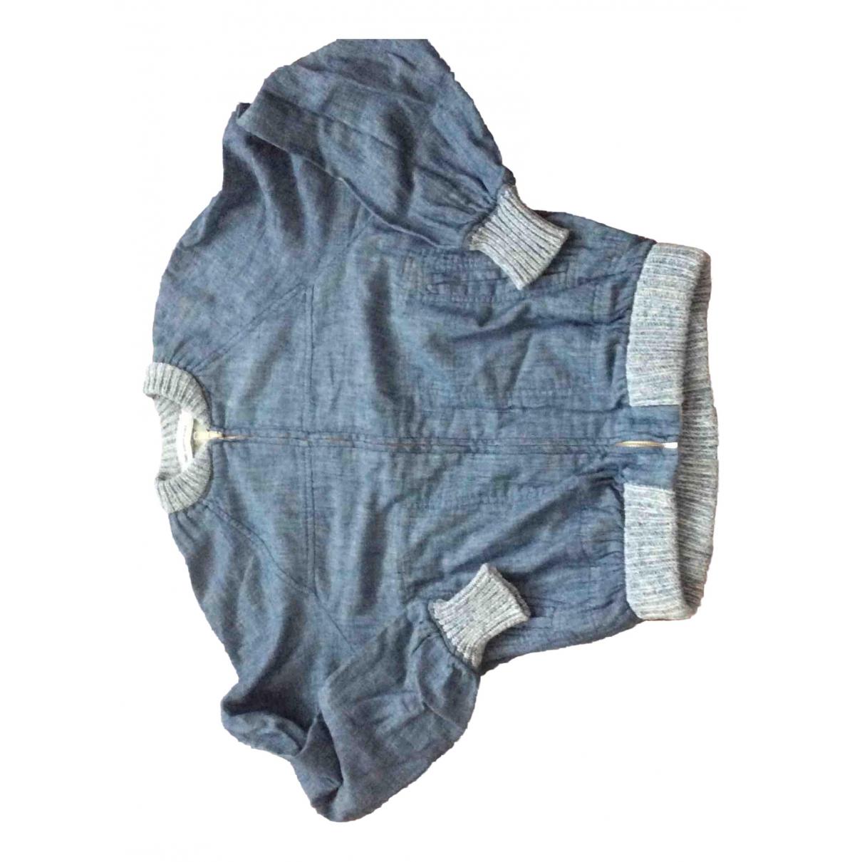 Isabel Marant Etoile \N Blue Cotton Leather jacket for Women 34 FR
