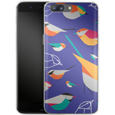OnePlus 5 Silikon Handyhuelle - Birds Talk von Susana Paz