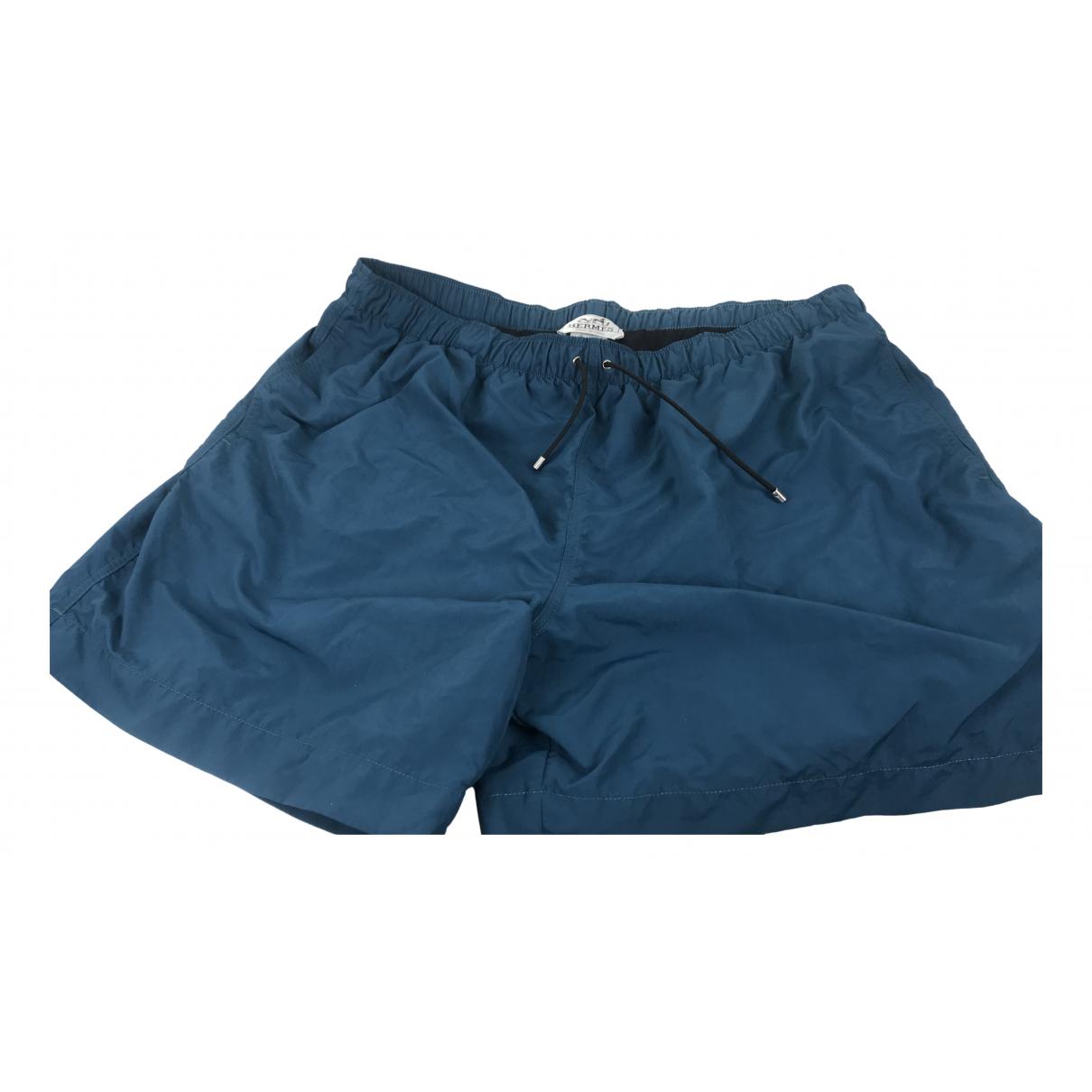 Hermes - Bain   pour homme en coton - elasthane - bleu
