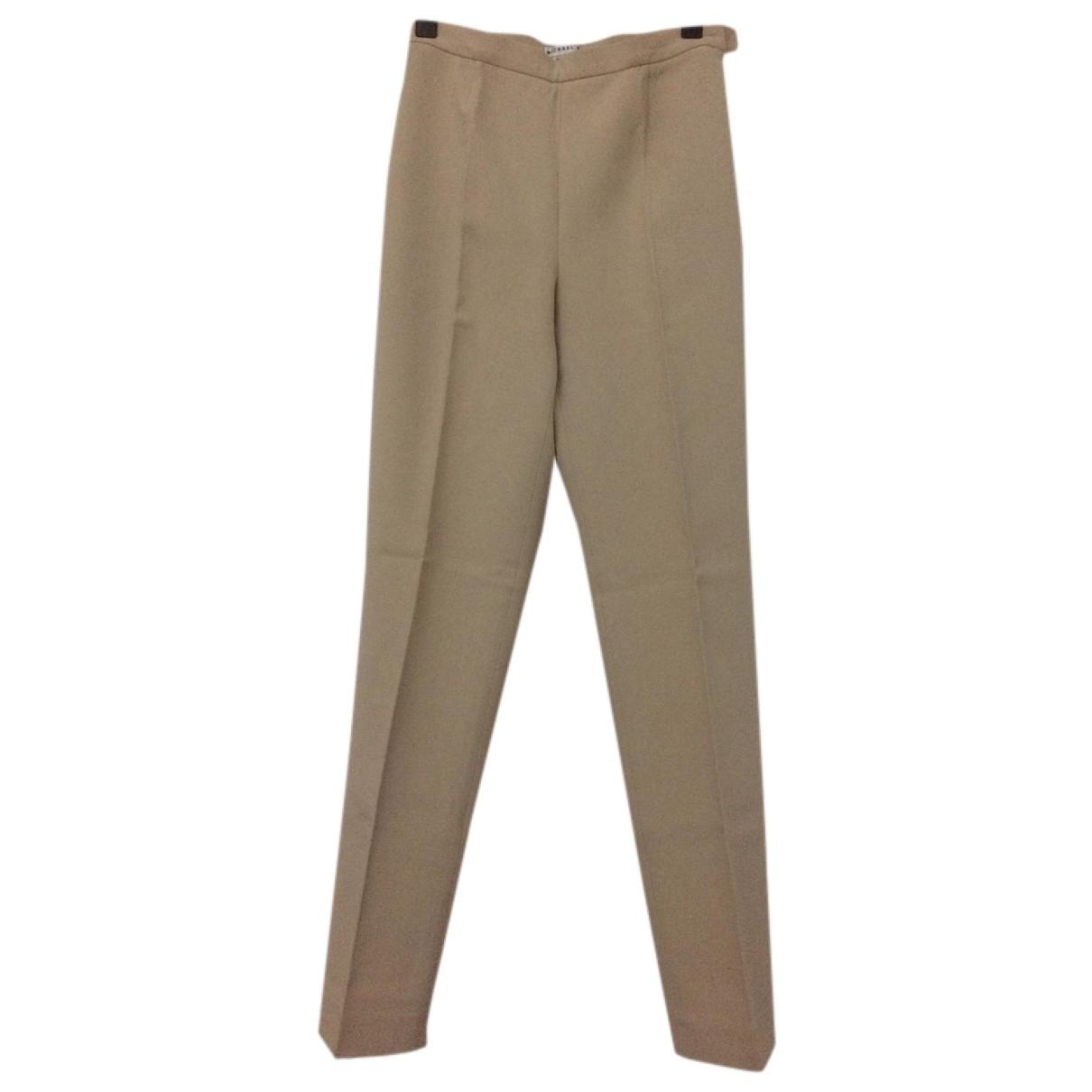 Michael Kors \N Camel Wool Trousers for Women 4 US
