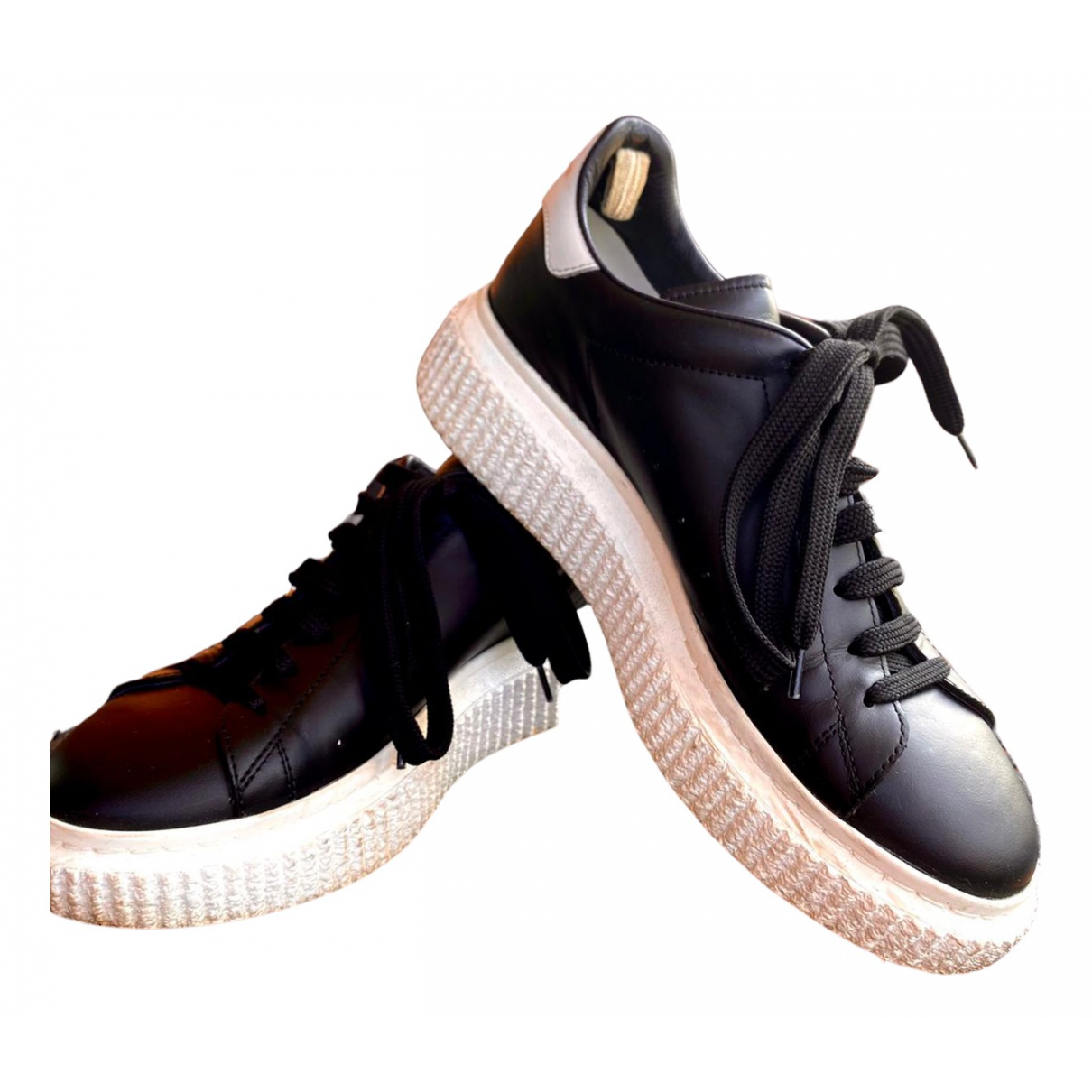 Officine Creative \N Black Leather Trainers for Women 37 IT