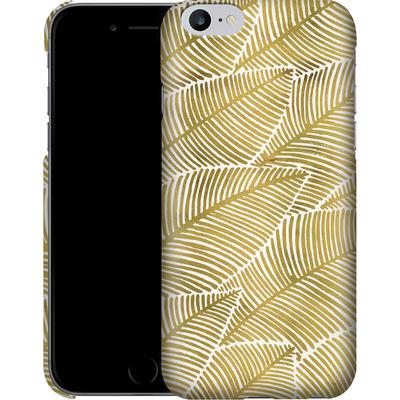 Apple iPhone 6 Plus Smartphone Huelle - Tropical Leaves Gold von Cat Coquillette